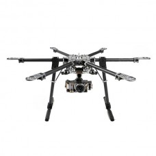 X-CAM CF870 Folding Multi-Copter Carbon Fiber Hexacopter 9.5kg+SkyKnight 2 Axis Brushless Gimbal Combo