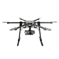 X-CAM CF870 Folding Carbon Fiber Hexacopter 9.5kg w/ Motor&ESC+SkyKnight 2 Axis Brushless Gimbal ARF Combo