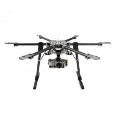 X-CAM CF870 Folding Carbon Fiber Hexacopter 9.5kg w/ Motor&ESC+SkyKnight 2 Axis Brushless Gimbal ARF Combo