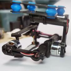 Gopro 1 2 3 FPV 360 deg Two-Axis Carbon Fiber Brushless Camera Gimbal Direct Drive FPV PTZ w/ 2pcs Motor