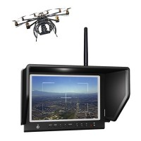 "Lilliput 7"" 664/W LED FPV Aerial Photography Monitor 5.8GHz Wireless Receiver for Canon MARK 5D II III"