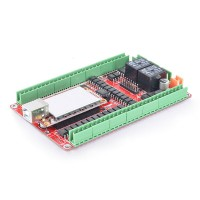 5 Axis 400KHZ Five Axis Stepper Motor Driver Breakout Board USB MACH3 USBCNC Interface Board for CNC Engraving Machine
