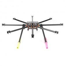 SkyKnight X8-1100 22mm Pure Carbon Fiber FPV Hexacopter DSLR Folding Multicopter Kit for 5DII +Landing Skid
