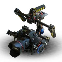 3-Axis Gimbal Stabilized Camera Mount Tile/Roll Multicopter Camera Photography PTZ with Servos