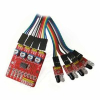 4 Channel Infrared Trailing Tracking Module Obstacle Avoidance Sensor For Barrowload Robot Car