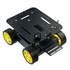 DFRobot Alloy 4 Wheel Drive Version A4WD Robotic Car Platform Compatible with Arduino