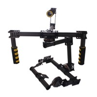 FPV 3 axis DSLR Handle Gimbal Carbon Fiber Stabilized Camera Mount w/ Motor for 5DII FPV Photography