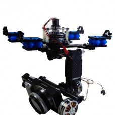 FPV 3 Axis Brushless Camera Gimbal Camera Mount PTZ w/ 3pcs Motor & Controller for Mini SLR Sony 5N Aerial Photography