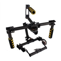 FC Model Universial FPV 3 axis DSLR Brushless Gimbal Carbon Fiber Stabilized Camera Mount PTZ for 5D2 5D3 D800 Aerial Photography