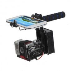 GOPRO2 Gopro3 Handheld Brushless Gimbal Self-Stablized FPV Gimbal Mount PTZ  w/2pcs Motor
