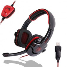 SADES SA-901 Stereo 7.1 Surround Game Headset Headband Headphone Microphone