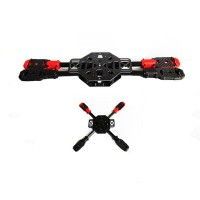 SAGA X400 Carbon+Glass Fiber Aircraft Fully Folding FPV Quadcopter w/ Landing Skid Gear