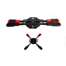 SAGA X400 Carbon+Glass Fiber Aircraft Fully Folding FPV Quadcopter w/ Landing Skid Gear