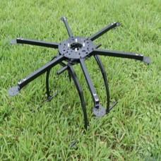 FC Model S650 650MM Folding Frame Hex rotor Hexacopter Multi-copter w/ Tall landing Gear