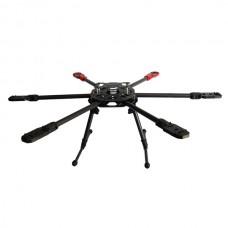 SAGA FA720 Carbon Fiber Hexacopter Folding Multicopter Frame Kit w/ CF Landing Gear
