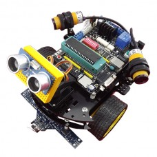 C51 Development Board Tracking Smart Car Chassis Platform Robotic Car Kit with Ultasonic & Other