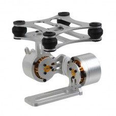 Silver CNC Brushless Camera Gimbal Mount with 2 LD2208 Brushless Motors For FPV Gopro 3 Photography