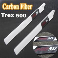 A-grade Pro 3D Carbon Fiber CFK Rotorblätter 430mm 500er Klasse T-Rex 500