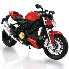 "1:12 Red Ducati ""STREETFIGHTER"" Die Cast Model Motorcycle Bike 2010"