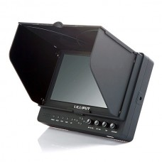 """HD HDMI FPV Monitor Lilliput 7"""" 665/P Field Monitor Peaking Filter with YPbPr/AV IN+F970/LPE6 Plate"""