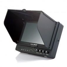 "Lilliput 7"" FPV Monitor 665/O/P Peaking Zebra Exposure Hdmi In/out Dslr 5Diii 7D w/ Sunshade"