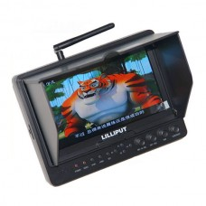 "Lilliput 5.8GHz  Wireless 7"" TFT LCD FPV Screen Aerial Photography Monitor W/ 5.8G Wireless Receiver For DV Video Film C300 5D2 5D3 / Red One"
