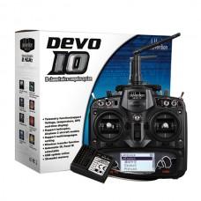 Walkera Devention DEVO 10 2.4GHz 10ch Telemetry RC Transmitter Remote Control & RX1002 Receiver