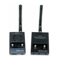 Boscam 5.8GHz 2w Wireless AV Transmitter & Receiver 2000mw RC58-32CH +TX58-2W For FPV