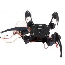 Aluminium Robot Beast Mount Kit 12 DOF Four Leg Spider Robotics Platform Educational Toy