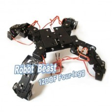12 DOF Spider Robotic Aluminium Robot Beast Mount Kit w/ Servo Horn Four Legg Educational Toys