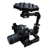 3 Axis Carbon Fiber Brushless Gimbal DSLR Camera Mount PTZ w/ Motors for FPV Photography