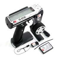 FlySky FS-GT3C 2.4GHz 3CH 3 Channel LCD RC Gun Transmitter+Receiver+LiPo Battery f/ RC Car & Boats