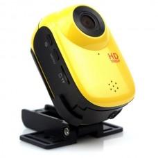 HD1080P 12M Outdoor Sport Helmet Action Waterproof Mini DV Car Camera Cam SJ1000-Yellow