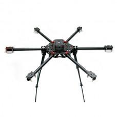 Flying 850mm High Strength Multi-Copter 22mm Carbon Fiber FPV Hexacopter Folding Multicopter w/ CF Landing Skid