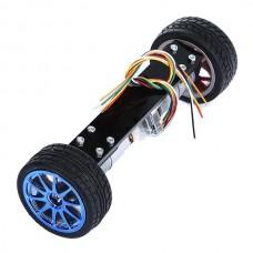 2WD Car High Torque JGA25-370 Metal DC Motor + 65mm Dia Tyre & 5mm Acrylic Board