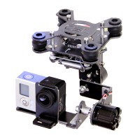 Two-axis Glass Fiber Brushless Gopro 3 Camera Mount PTZ Brushless Gimbal w/Motor for Quadcopter FPV