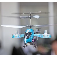 Original DFD BBS777 Shatter Resistance 3.5 Channels RC Helicopter Blue Alloy Radio Metal Remote Control Helicopter HM Toy