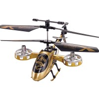 F105 Mini Avatar 4CH RC Remote Control Helicopter With Gyro LED Golden Children Toy