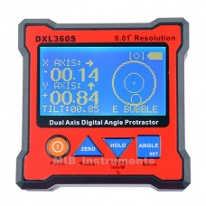 DXL360S Digital Protractor Inclinometer Level Box 0.01