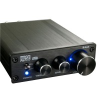 MUSE SA50 68W x2 T-AMP Amplifier TDA7489L EQ Bass Treble w/ Power Adapter-Black Panel