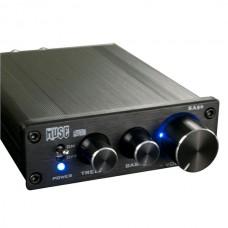 MUSE SA50 68W x2 T-AMP Amplifier TDA7489L EQ Bass Treble w/ Power Adapter-Black Panel