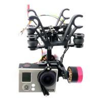 CNC Aluminium Brushless Gimbal Camera Mount PTZ+Motor Controller for Gopro 3 aerophotography