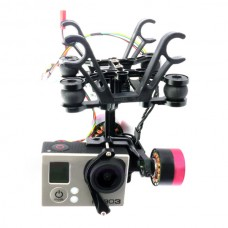 CNC Aluminium Brushless Gimbal Camera Mount PTZ+Motor Controller for Gopro 3 aerophotography