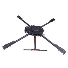 650mm Multicopter Carbon Fiber Aircraft Fully Full Folding FPV Quadcopter with CF Landing Skid