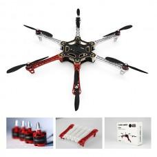 DJI F550 ARF Hexacopter & H3-2D FPV GoPro Gimbal & Naza-M V2 IOSD Mini LK-24BT 2.4G Datalink& Can Hub Combo