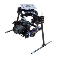 HY-0-100 3 Axis professional Camera Gimbal Glass Fiber Stability Camera Mount PTZ for 5D/7D/D90 SLR general FPV Aerial Camera