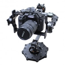 3-axis CF Brushless Gimbal Camera Mount PTZ w/ Alexmos Controller & Motor for 5D 7D Cameras FPV Aerial Photography