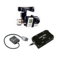 DJI IOSD Mini + H3-2D FPV Gimbal& AVL58 5.8G VideoLink & LK-24BT 2.4GBT (Ipad Compatible) Datalink 16 Waypoint & Can Hub Combo for FPV