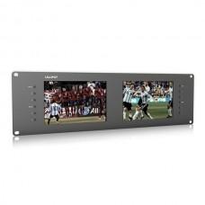 "LILLIPUT RM-7028S Dual 7"" 3RU Rack Monitors IPS Screens Viewing SD HD and 3G-SDI"
