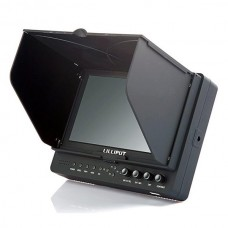 "Lilliput 7"" 665/P FPV Monitor Peaking Focus Filter Hdmi in Monitor + Hot Shoe Mount + Hdmicable"